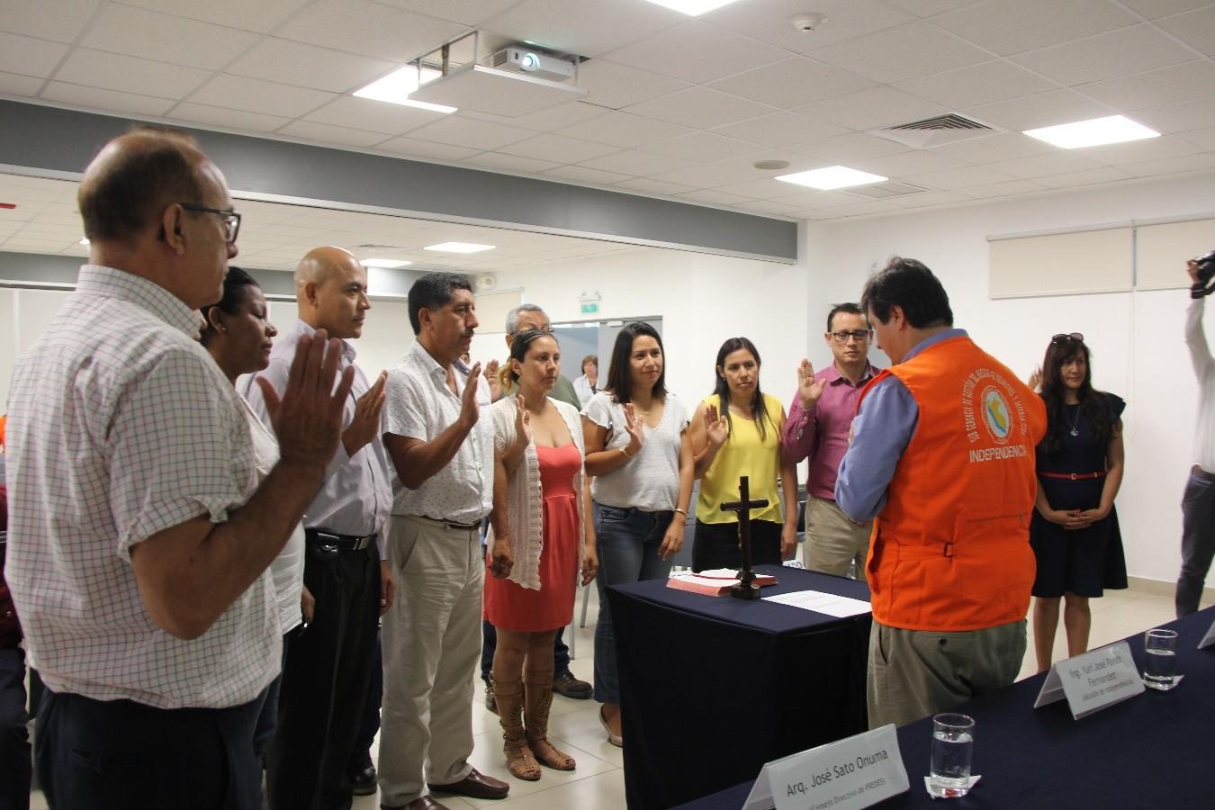 Se fortalecen espacios de articulación para la toma de decisiones en GRD en Independencia.